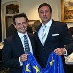 Luigi Wewege with New Zealand Ambassador to the European Union and NATO - Vangelis Vitalis